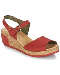 El Naturalista - Leaves Women's Sandals In Red - Lyst