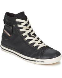 DIESEL | Exposure I Men's Shoes (high-top Trainers) In Black | Lyst