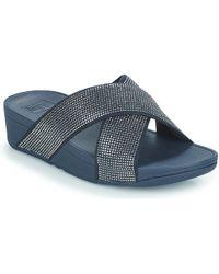 097d9772f7b7 Fitflop - Ritzy Slide Women s Sandals In Blue - Lyst