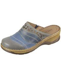 Josef Seibel - Catalonia Women's Clogs (shoes) In Grey - Lyst