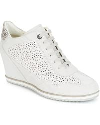 Geox - D Illusion Women's Shoes (high-top Trainers) In White - Lyst