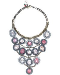 Sveva Collection - Collana Lunga Pietre Rosa Women's Necklace In Pink - Lyst