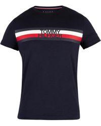 f1302103 Tommy Hilfiger Men's Original Melange Logo T-shirt, Green Men's T ...