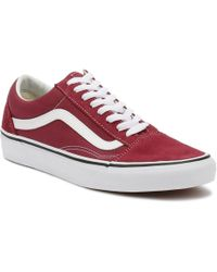 4b8cd752bc Vans - Dry Rose Red   True White Old Skool Trainers Men s Shoes (trainers)