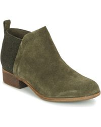 TOMS - Deia Women's Mid Boots In Green - Lyst