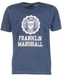 Franklin & Marshall - Olimapa Men's T Shirt In Blue - Lyst