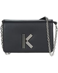 25cadf7f9b KENZO Saffiano Leather Messenger Bag - For Men in Black for Men - Lyst