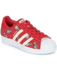 quality design 3895b bb4dd adidas - Superstar W Womens Shoes (trainers) In Red - Lyst