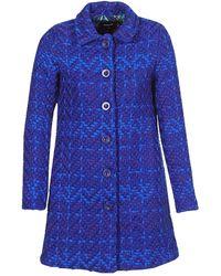 Desigual - Henkel Women's Coat In Blue - Lyst