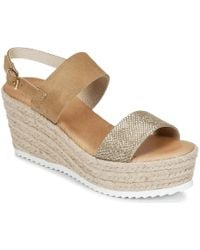 Casual Attitude - Inuil Women's Sandals In Gold - Lyst