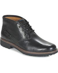 Clarks - Montacute Duke Men's Mid Boots In Black - Lyst