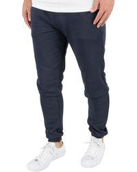 Farah   Men's Shalden Jersey Joggers, Blue Men's Sportswear In Black   Lyst
