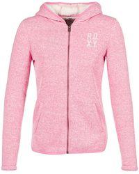 Roxy - Super Cosy Women's Fleece Jacket In Pink - Lyst