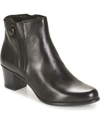 Tamaris - Welty Women's Low Ankle Boots In Black - Lyst