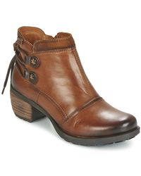 Pikolinos - Le Mans 838 Women's Low Ankle Boots In Brown - Lyst