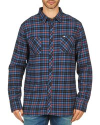 Rip Curl - Obsessed Check Flannel L/s Shirt Men's Long Sleeved Shirt In Blue - Lyst