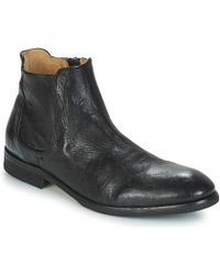 Hudson Jeans - Stobart Men's Mid Boots In Black - Lyst