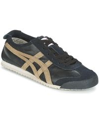 Onitsuka Tiger - Mexico 66 Vin Leather Men's Shoes (trainers) In Black - Lyst