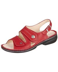 Finn Comfort - Milos Signalred Eldora Women's Mules / Casual Shoes In Red - Lyst