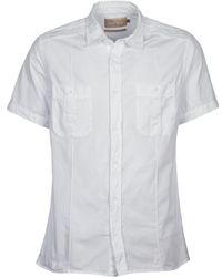 Chevignon - C Military Twil Men's Short Sleeved Shirt In White - Lyst