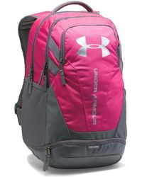 Under Armour - Hustle 3.0 Backpack - Tropic Pink / Graphite / Silver Men's Backpack In Pink - Lyst