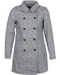 ONLY - Onllinnea Women's Coat In Grey - Lyst