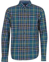 Bench - Guard Men's Long Sleeved Shirt In Blue - Lyst