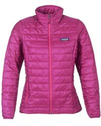 Patagonia - W's Nano Puff Jkt Women's Jacket In Pink - Lyst