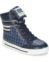 Marc By Marc Jacobs - Printed Leather High-top Trainers - Lyst