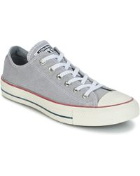 ff22d666f339 Converse - Chuck Taylor All Star Ox Stone Wash Men s Shoes (trainers) In  Grey