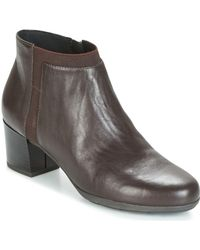 Geox - D Annya Mid Women's Low Ankle Boots In Brown - Lyst