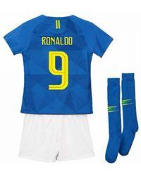 f95706f5c Lyst - Nike 2018-2019 Brazil Home Little Boys Mini Kit (ronaldo 9 ...