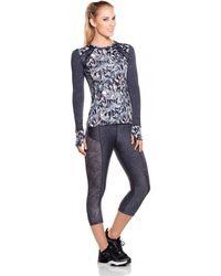 Maaji - Fitness Top Running Multicolour Grey - Enchanted Spirit Women's In Black - Lyst
