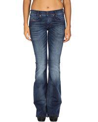 DIESEL - - Women's Jeans Louvboot Rc580 - Slim Bootcut Women's Bootcut Jeans In Blue - Lyst