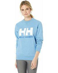 Helly Hansen - Hh Logo - Midlayer Mujer Women's Sweatshirt In Blue - Lyst