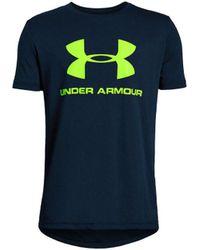 Under Armour - Tee-shirt SPORTSTYLE LOGO - 1330893-408 hommes T-shirt en bleu - Lyst