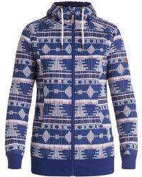 Roxy - Frost Printed - Sudadera T Women's Jacket In Blue - Lyst
