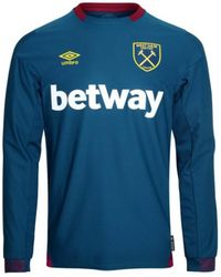 237fb79d3 Umbro - 2018-2019 West Ham Long Sleeve Away Football Shirt Men s In Blue -