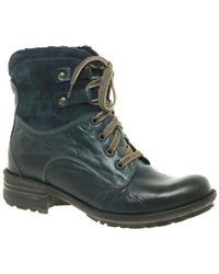 Josef Seibel - Sue Womens Lace Up Boots Women's Mid Boots In Blue - Lyst