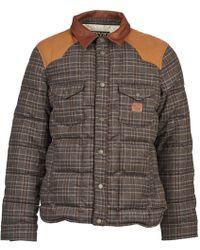 Chevignon - K Worker Carreaux Men's Jacket In Brown - Lyst