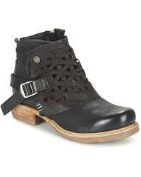 A.S.98 - Saint Women's Mid Boots In Black - Lyst