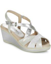 Pitillos - Manani Women's Sandals In Silver - Lyst