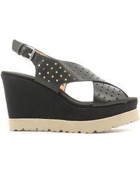 Luca Stefani - 351504 Wedge Sandals Women Black Women's Sandals In Black - Lyst