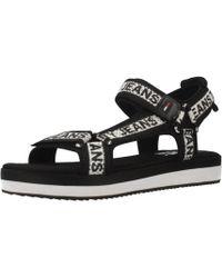 65217f9ca Tommy Hilfiger 990 Flat Mule Women s Sandals In Black in Black - Lyst
