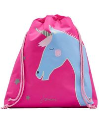 Joules - Active Girls Drawstring Bag Girls's Children's Backpack In Pink - Lyst