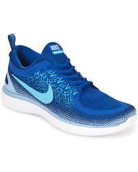 Lyst Nike Free Rn Distance 2 Running Shoe in Gray for Men