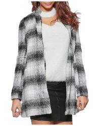 Infinie Passion - Grey Mid-length Coat 00w060747 Women's Coat In Grey - Lyst