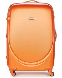 David Jones - Marquis 95l Men's Hard Suitcase In Orange - Lyst
