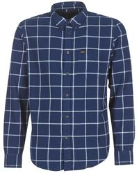 Lee Jeans - Button Down Men's Long Sved Shirt In Blue - Lyst
