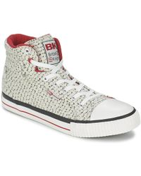 British Knights - Dee Women's Shoes (high-top Trainers) In White - Lyst